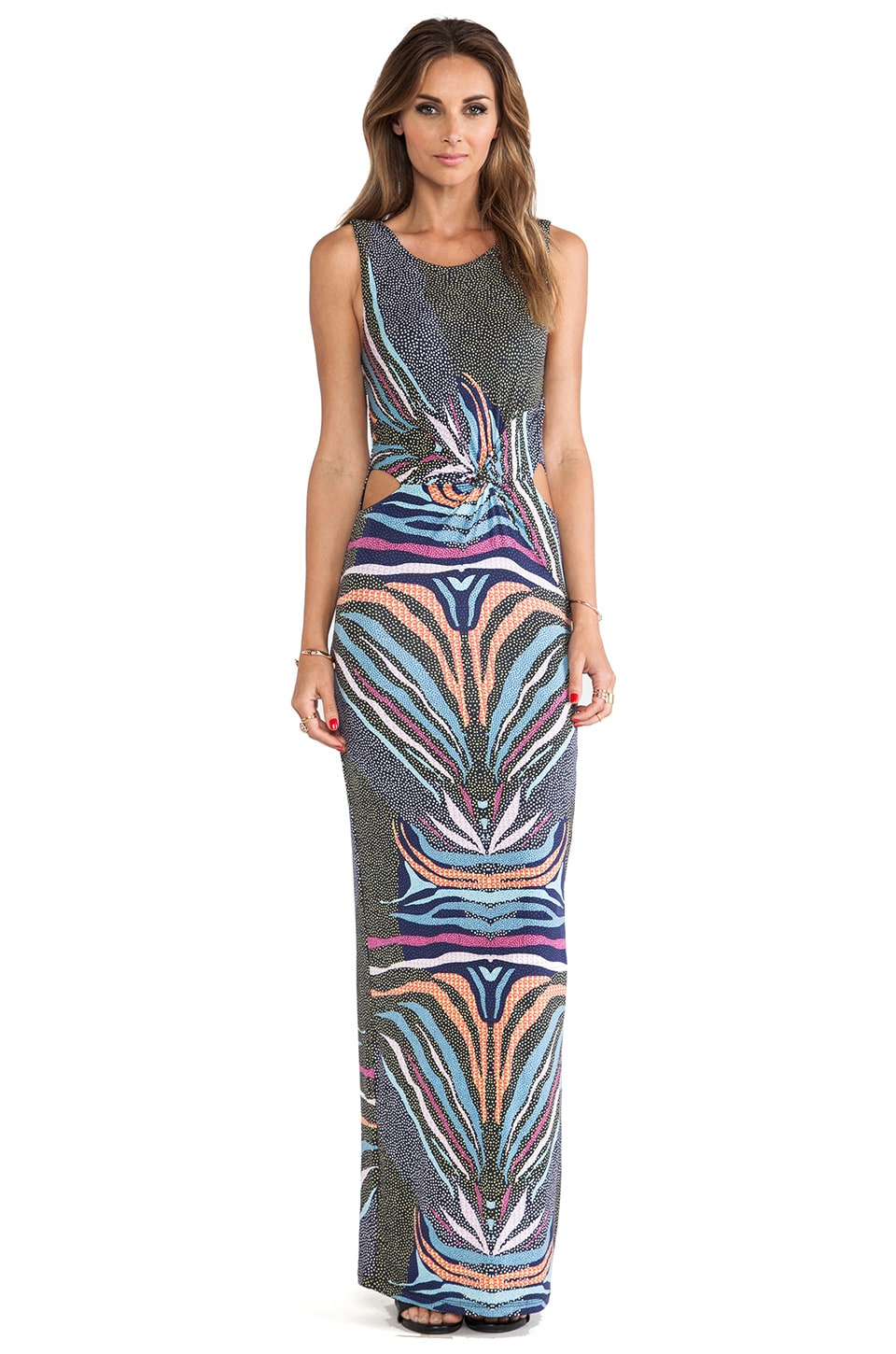Mara Hoffman Twist Maxi Dress in Phoenix Black