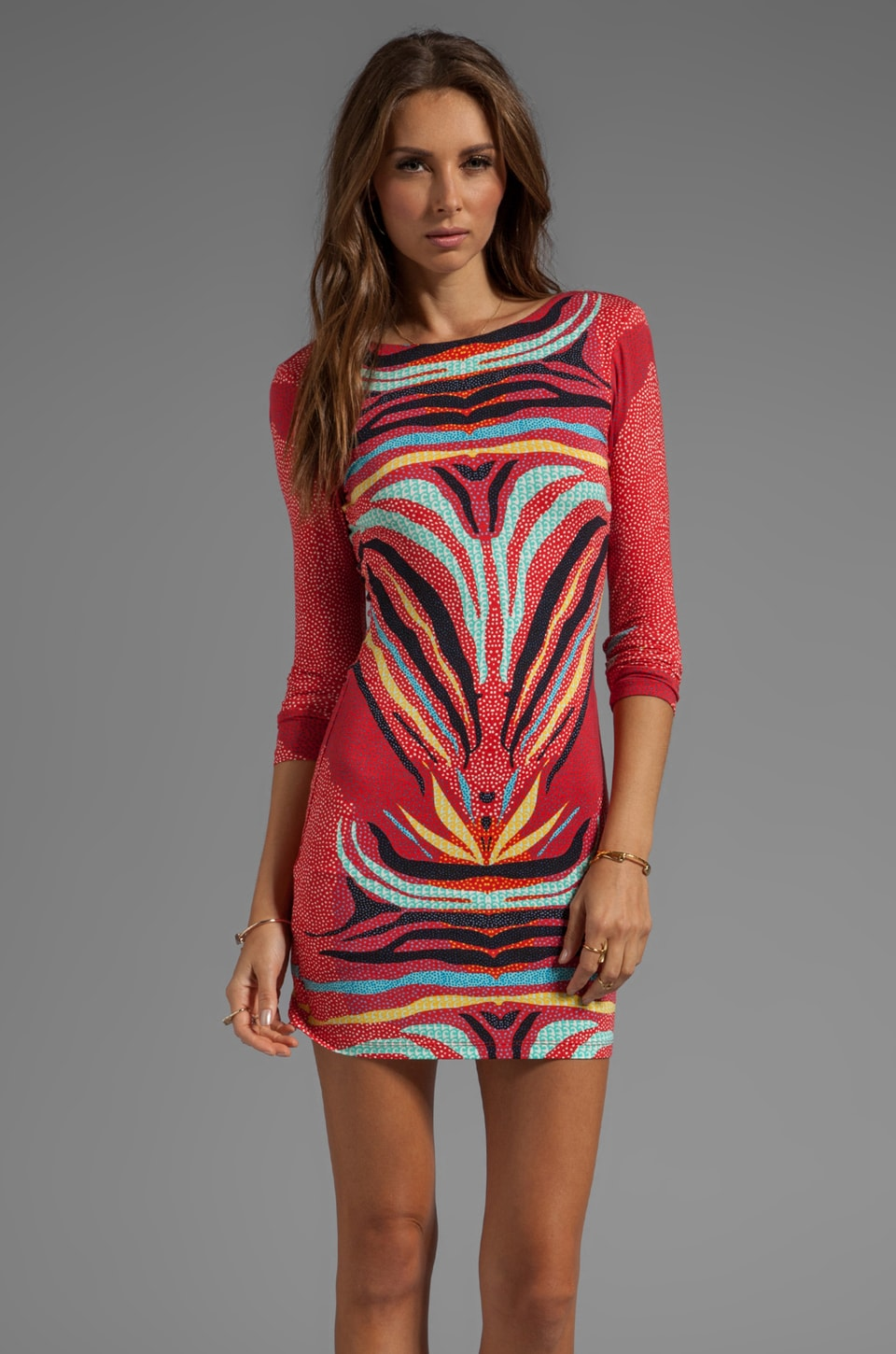 Mara Hoffman Scoop Back Mini Dress in Phoenix Red