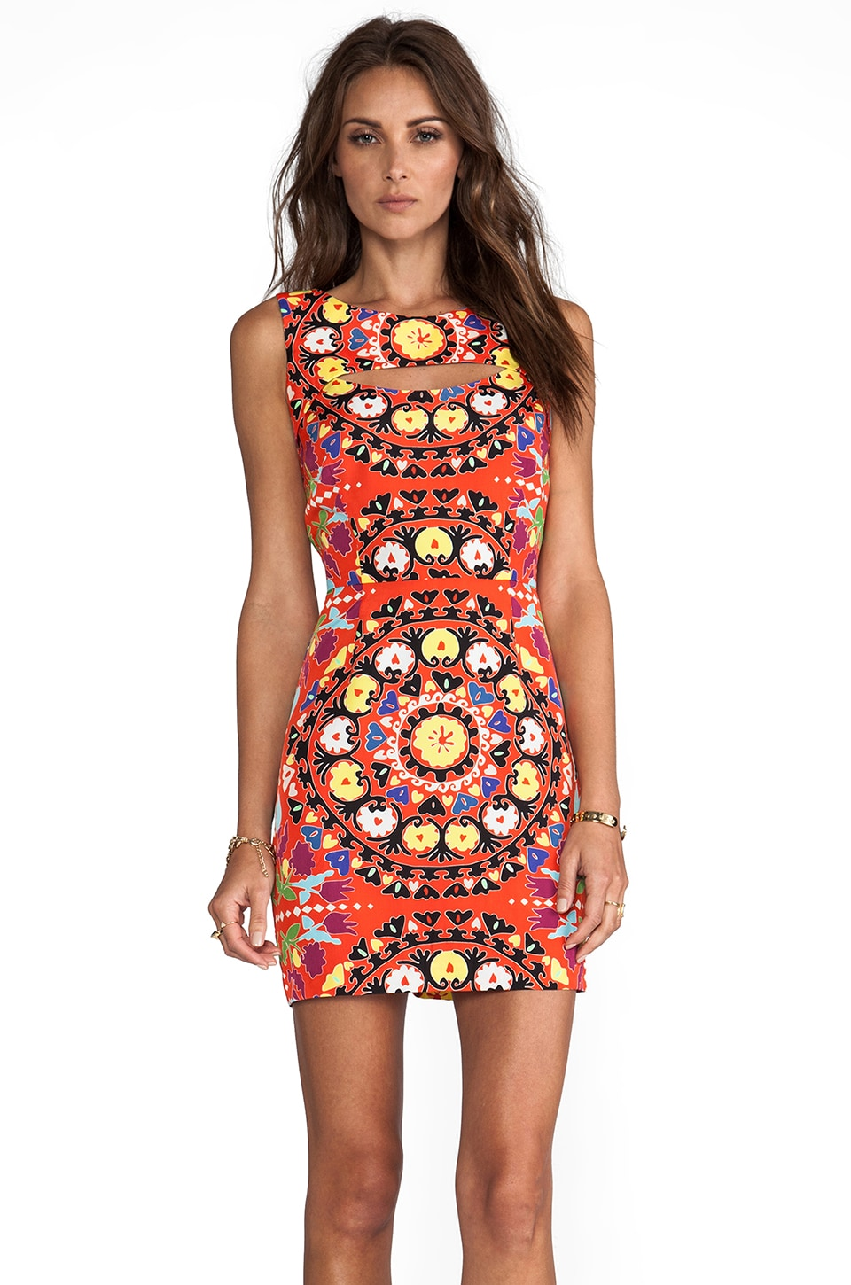 Mara Hoffman Cutout Mini Dress in Suzani Poppy