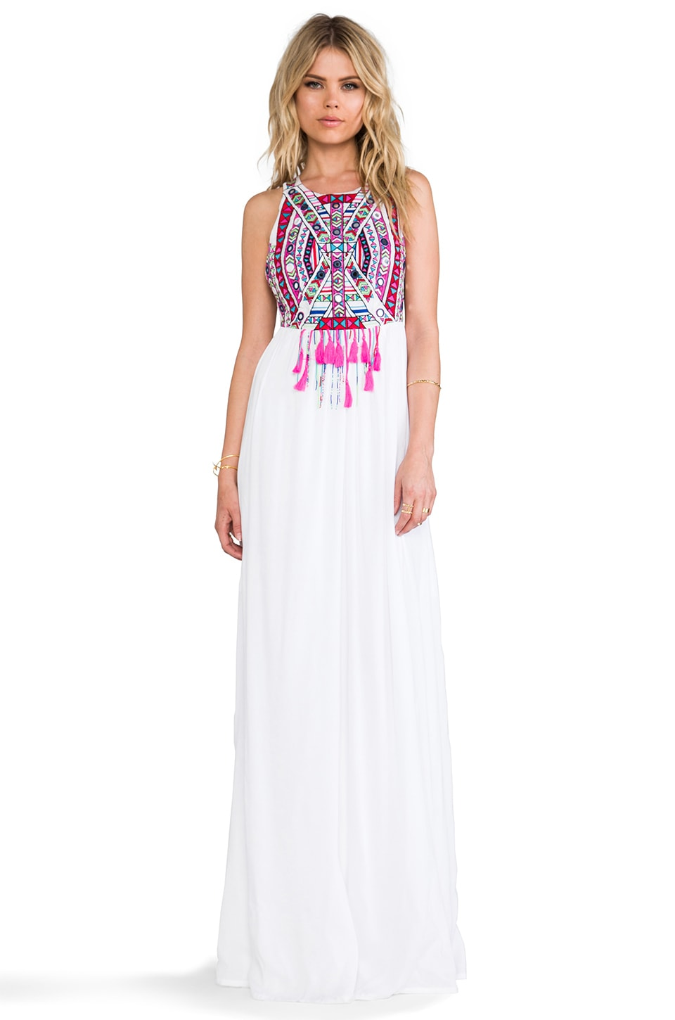 Mara Hoffman Mirror Embroidery Maxi Dress in White