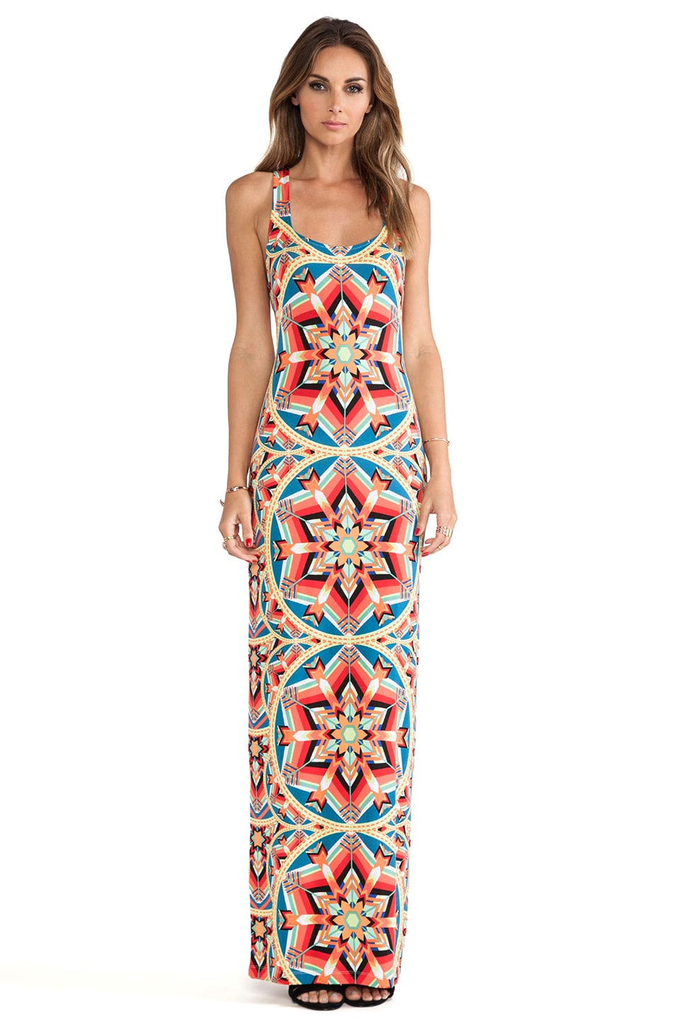Mara Hoffman Modal Racerbeck Maxi Dress in Kites Teal