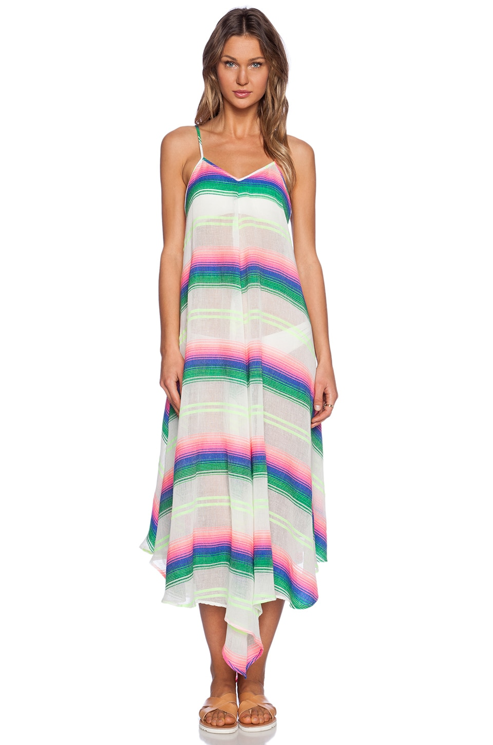 Mara Hoffman Maxi Dress in Rainbow Stripe Gauze | REVOLVE