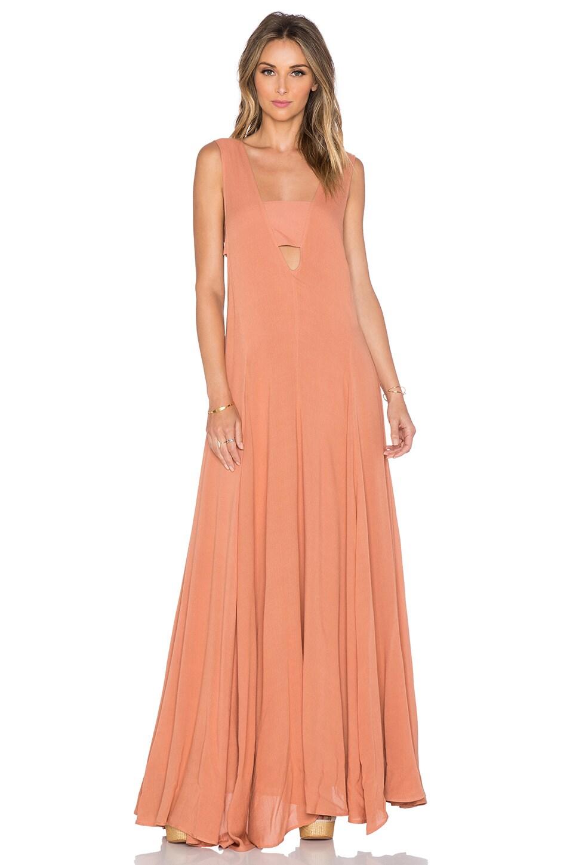 e2af20ef500f4 Mara Hoffman V-Neck Maxi Dress in Terracotta | REVOLVE