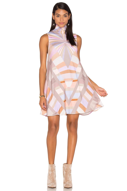 Prism Turtleneck Swing Dress by Mara Hoffman