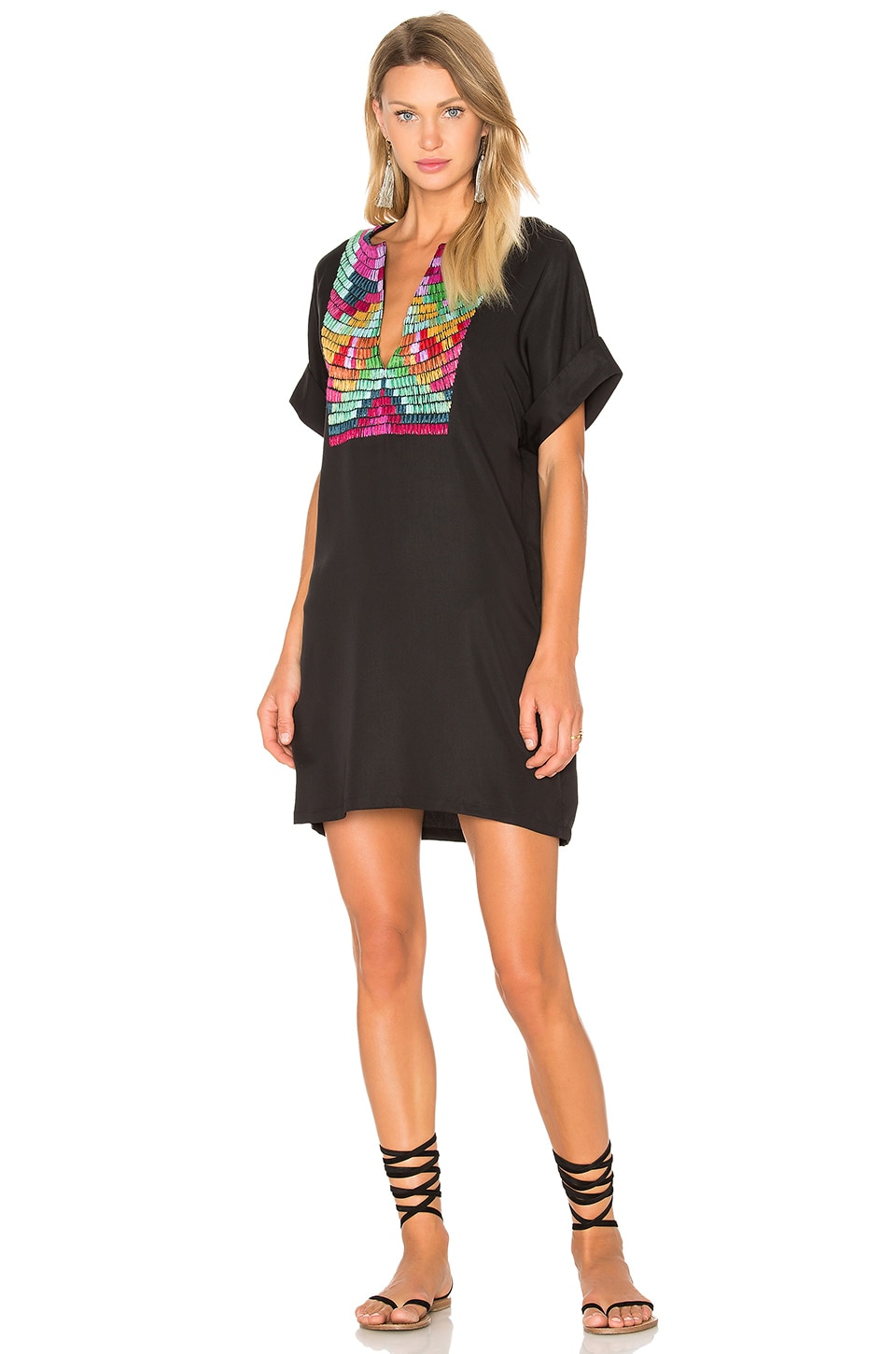 Radial Embroidery Tunic Dress by Mara Hoffman