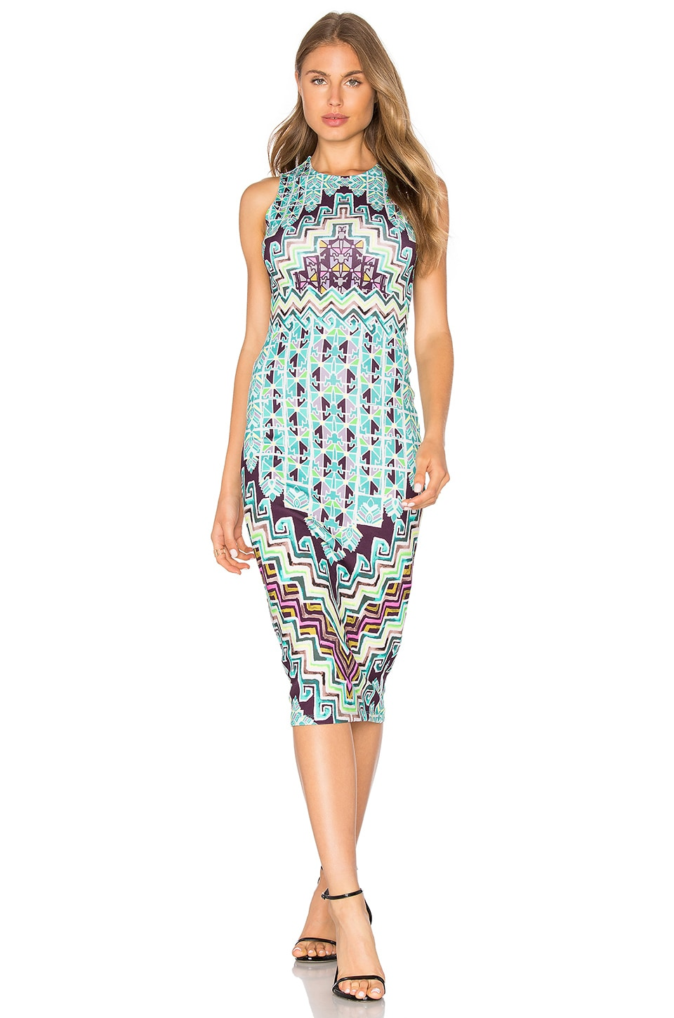 buy Bolnisi Rug Midi Dress by Mara Hoffman dresses online shopping