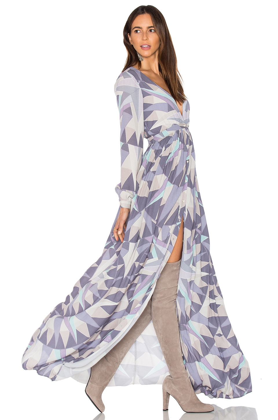 Compass Long Sleeve Maxi Dress by Mara Hoffman