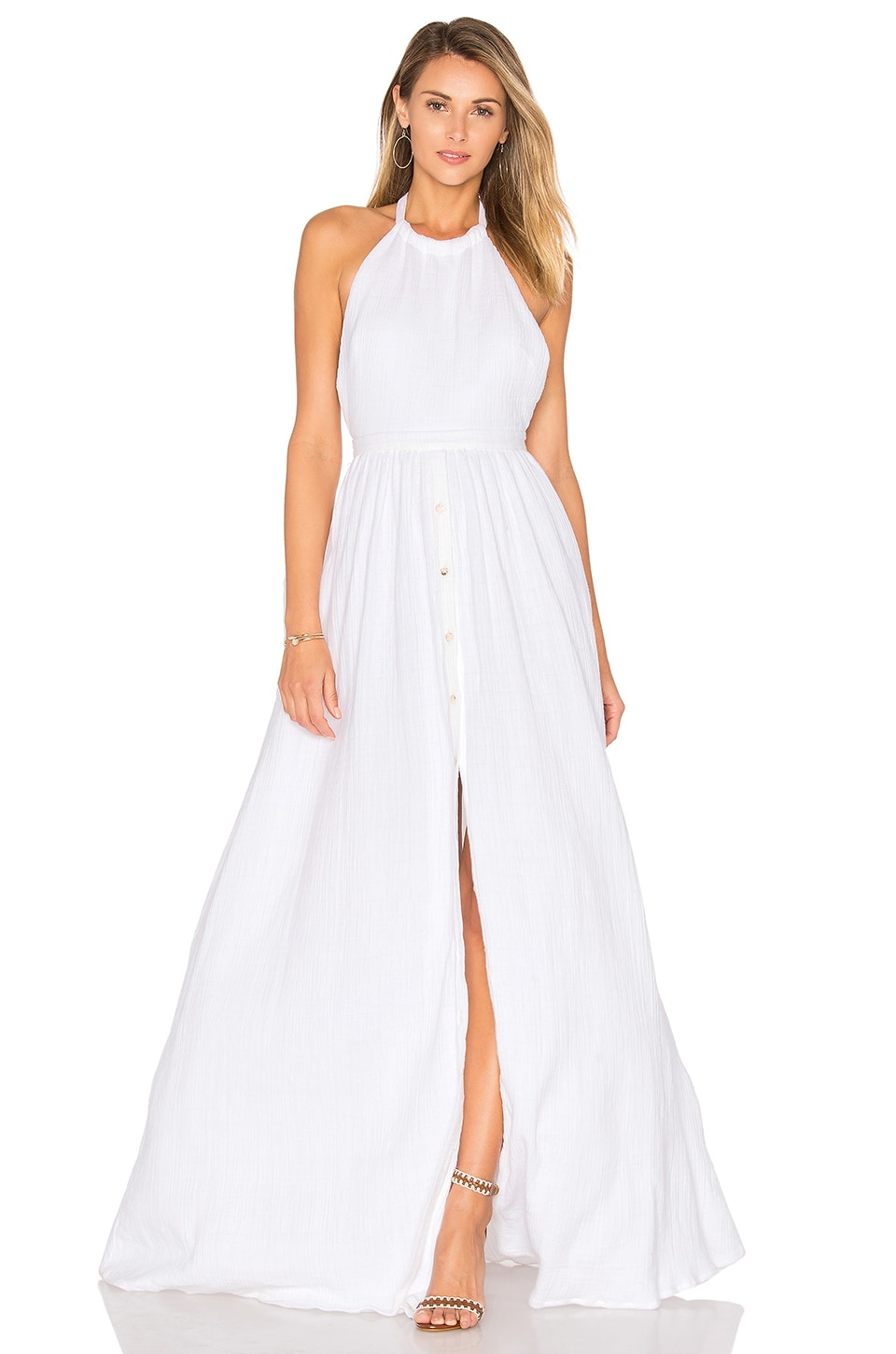 Mara Hoffman Organic Cotton Backless Dress in White