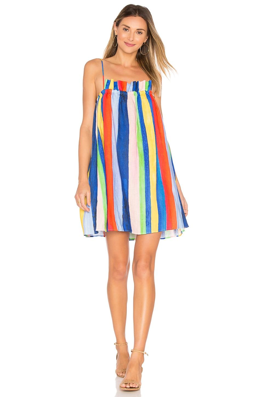 buy Gathered Mini Dress by Mara Hoffman dresses online shopping