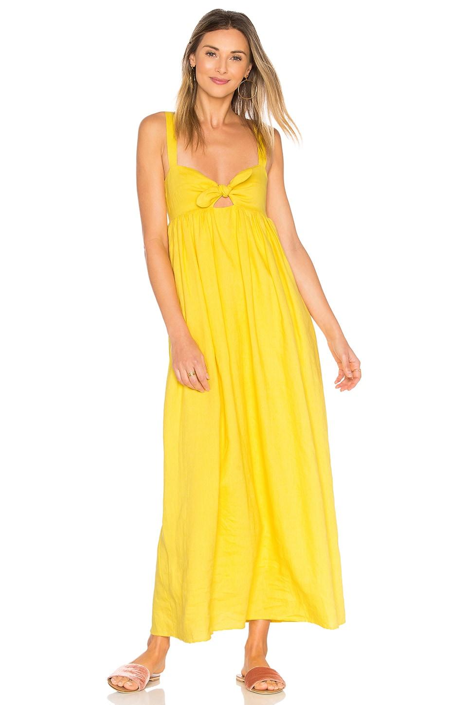 Mara Hoffman Tie Front Maxi Dress in Yellow
