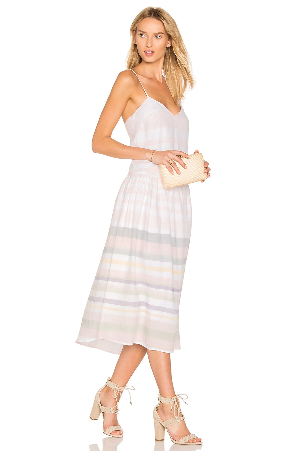 Mara Hoffman Drop Waist Midi Dress in Sage Multi