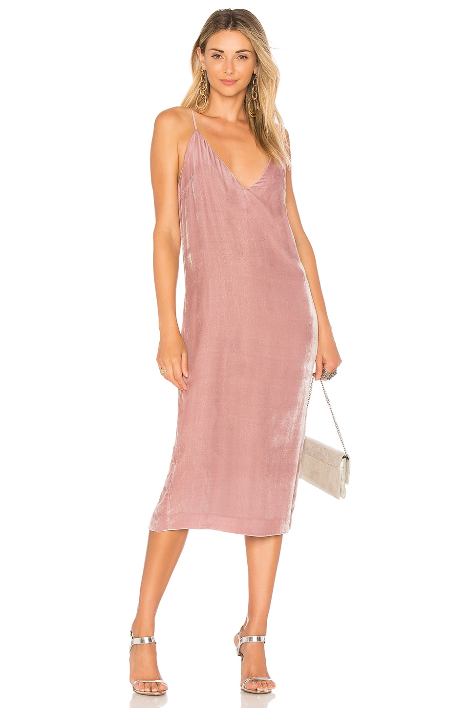 Mara Hoffman Georgia Slip Dress in Mauve