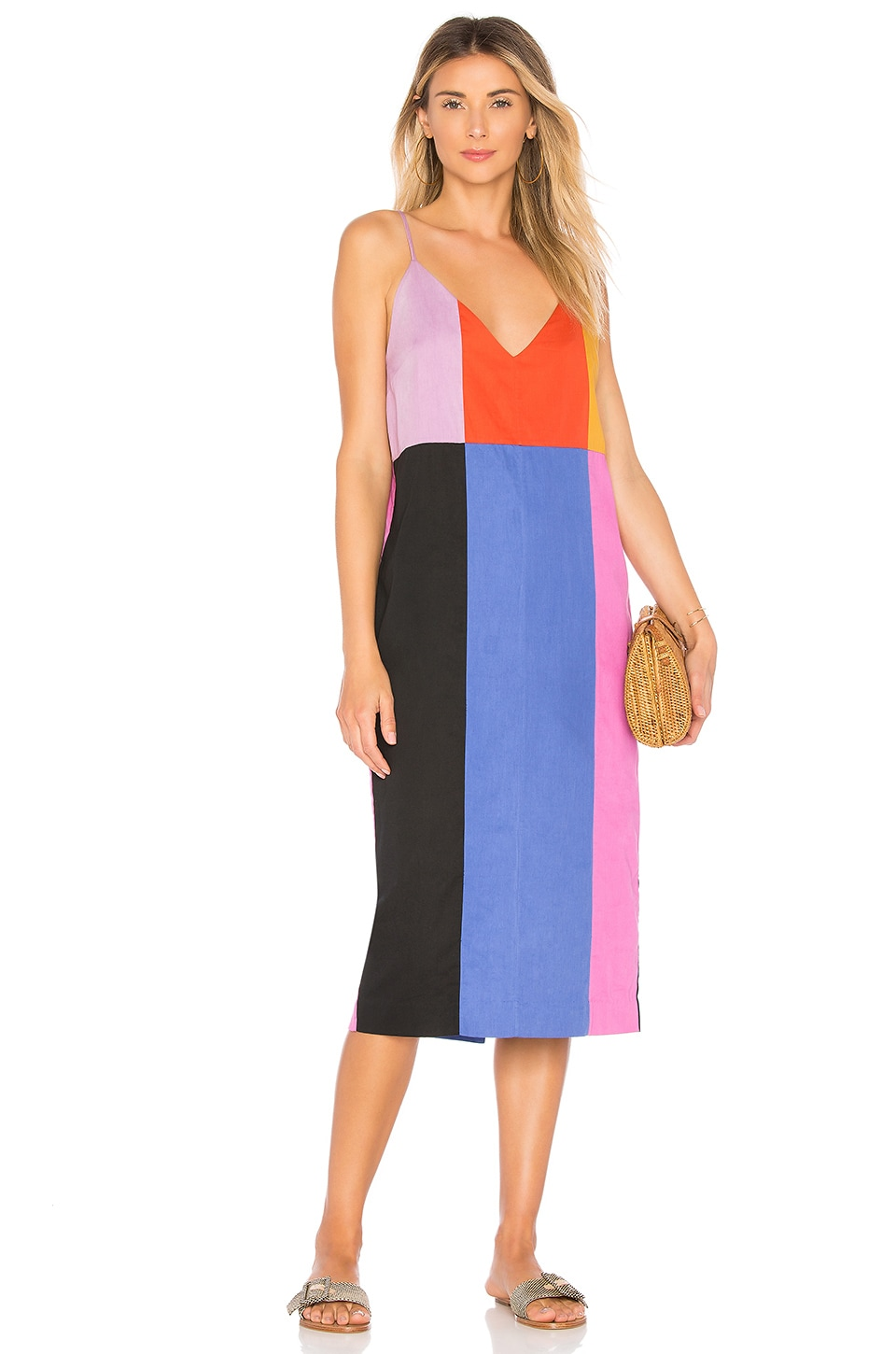 Mara Hoffman Georgia Dress in Rainbow Multi
