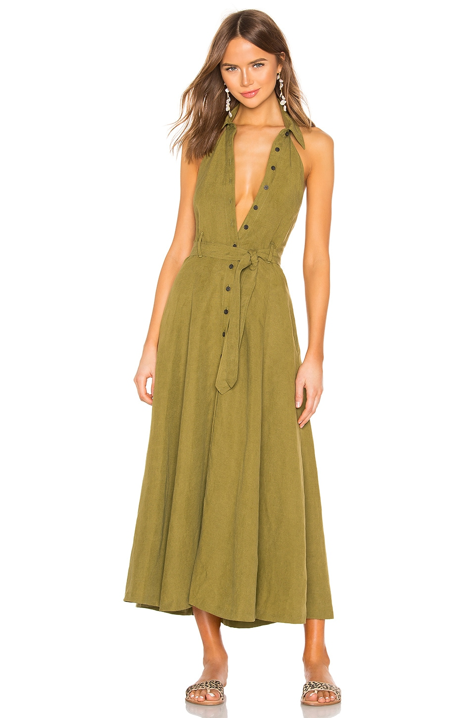 Mara Hoffman Rosemary Dress in Olive