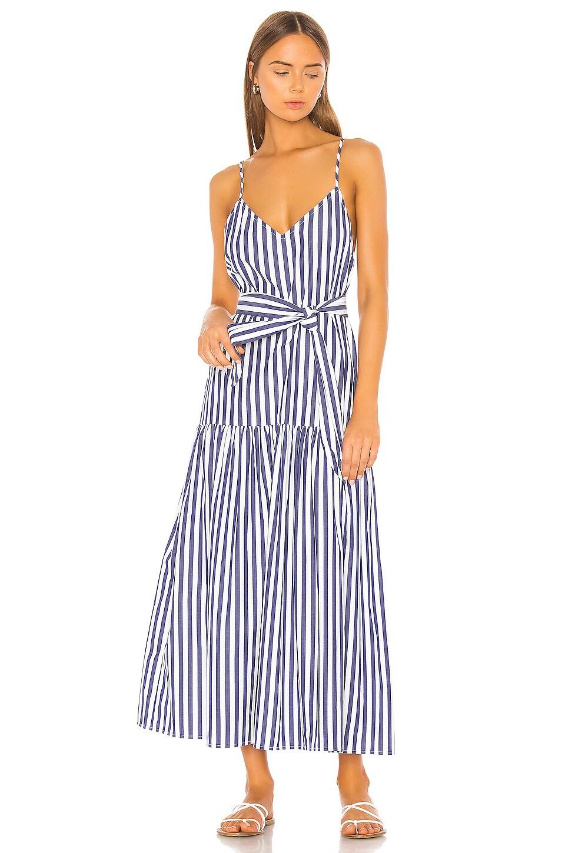 Mara Hoffman Raffaella Dress in White Blue