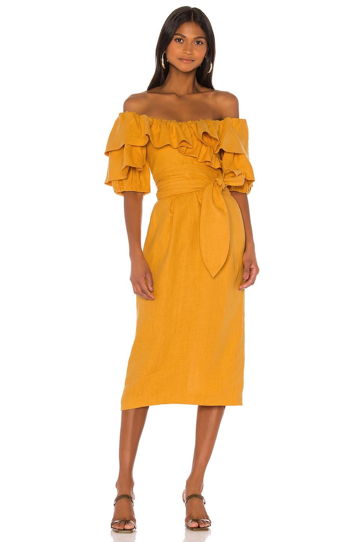 Mara Hoffman Arabella Dress in Yellow