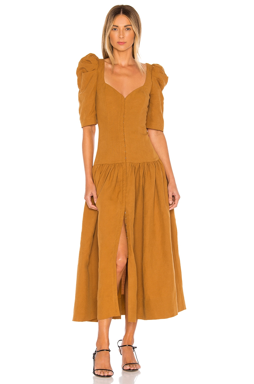 Mara Hoffman Phaedra Dress in Khaki