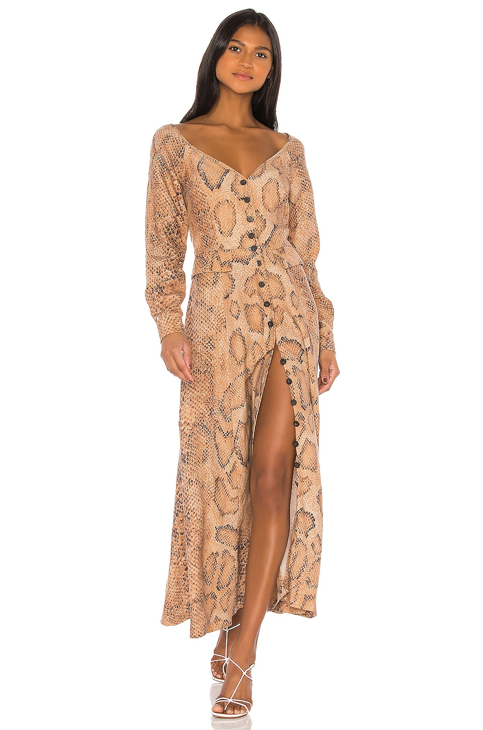 Mara Hoffman Silvana Dress in Sand Multi