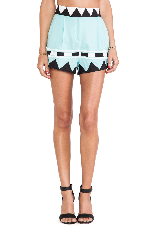 Mara Hoffman Applique High Waisted Shorts in Multi