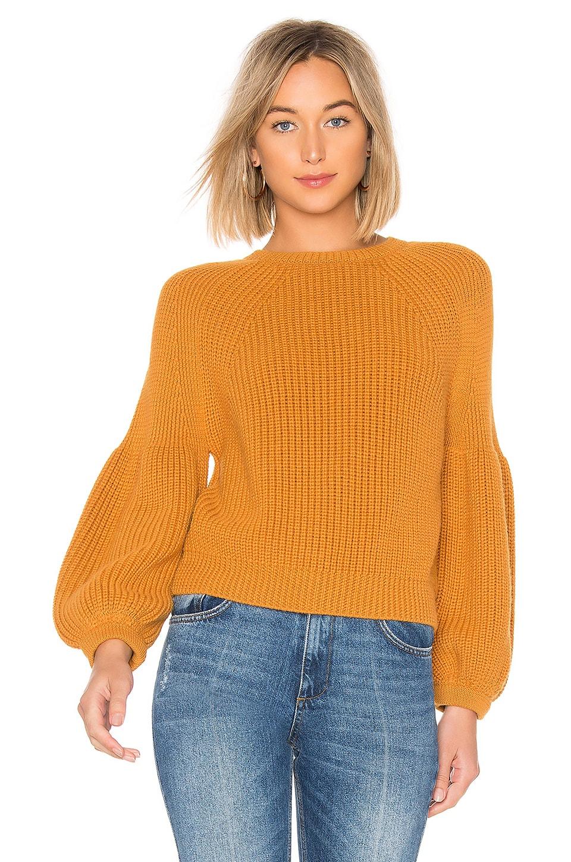 Mara Hoffman Eliza Sweater in Mustard