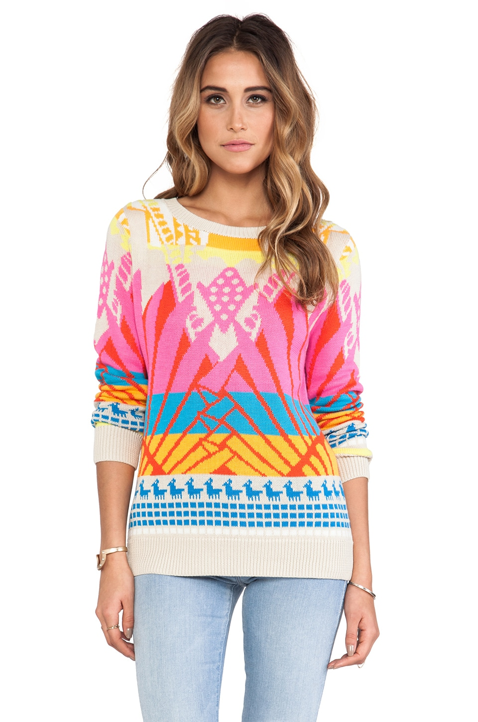 Mara Hoffman Pullover Sweater in Sunrise