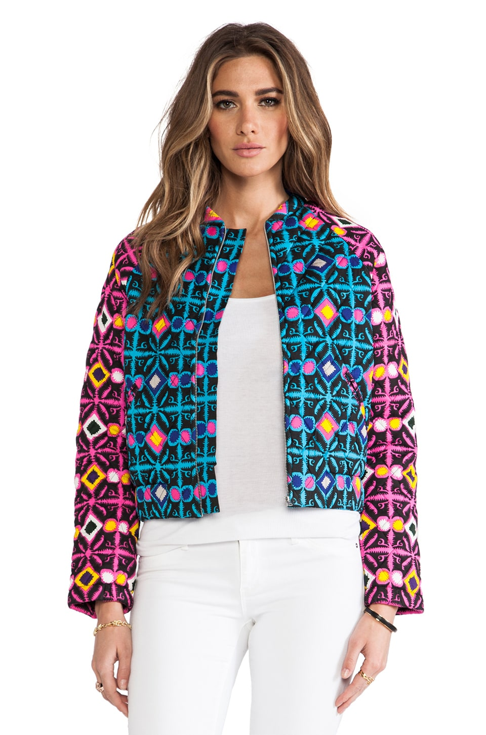 Mara Hoffman Quilted Bomber in Trickster