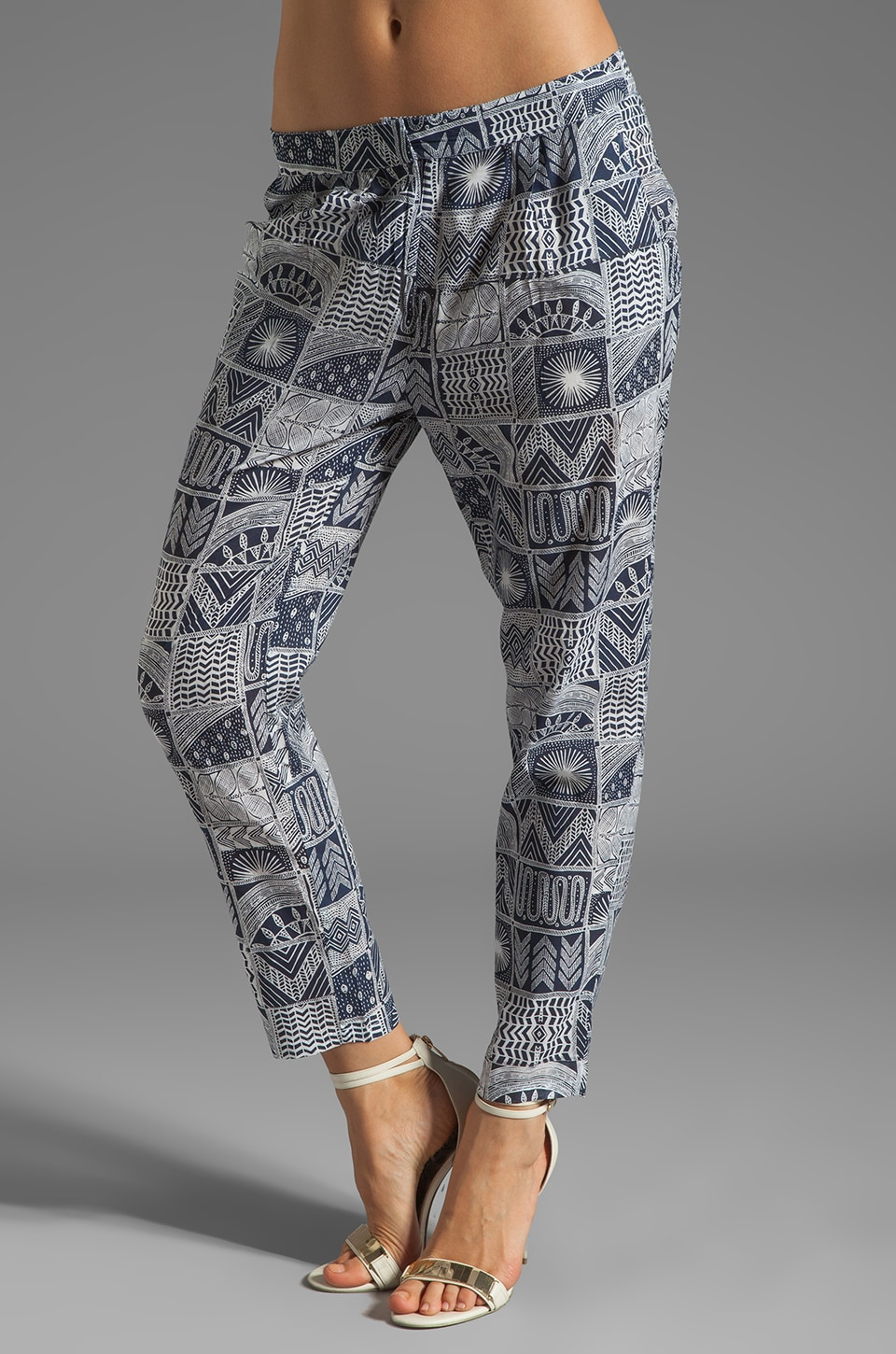 Mara Hoffman Printed Slouch Pant in Patchwork