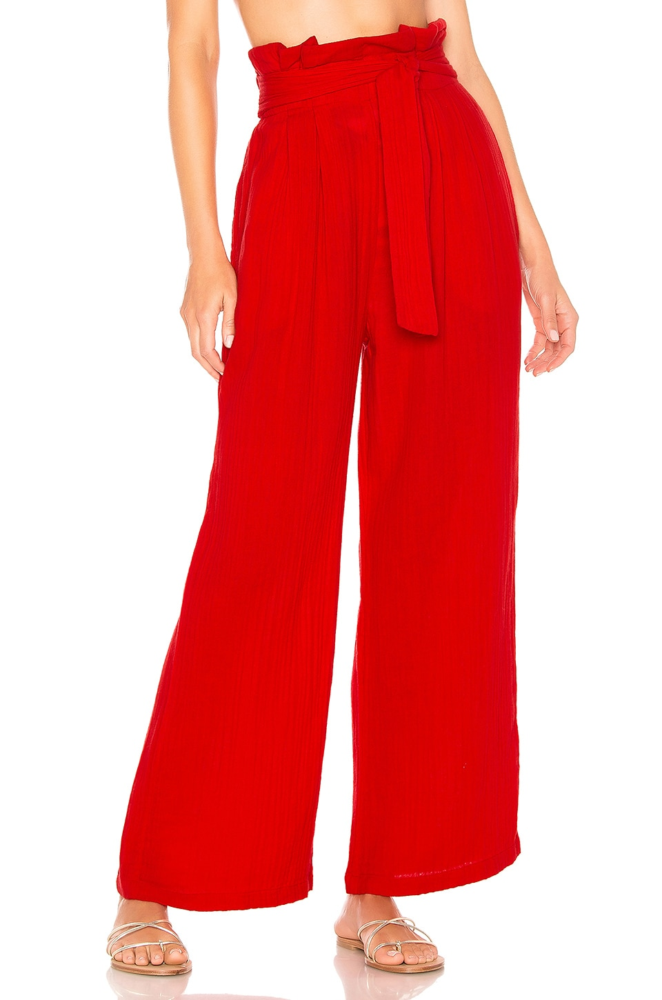 Mara Hoffman Arianna Pant in Red