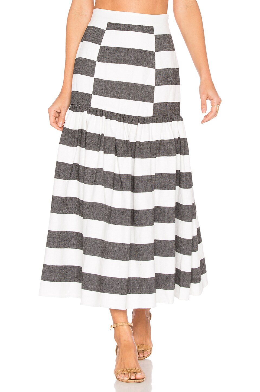 Drop Waist Midi Skirt by Mara Hoffman