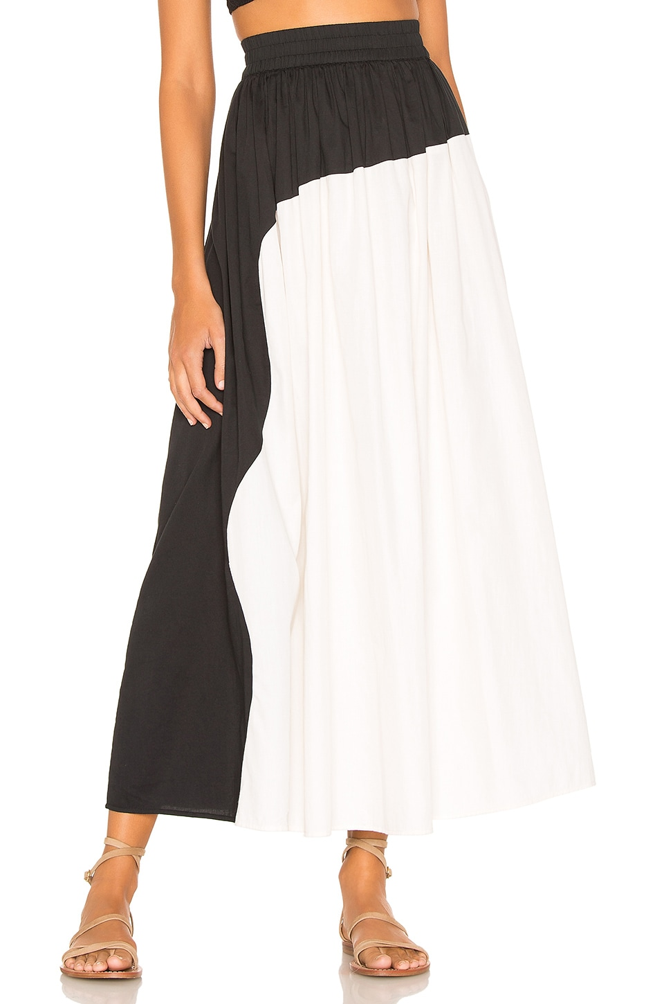 Mara Hoffman Ari Skirt in Black Cream