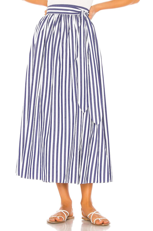 Mara Hoffman Katrine Skirt in White Blue