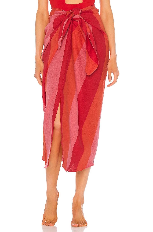 Mara Hoffman Izzi Skirt in Red Multi