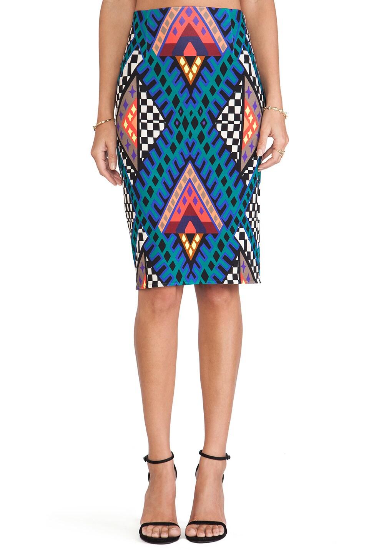 Mara Hoffman High Waisted Pencil Skirt in Bazaar Blue