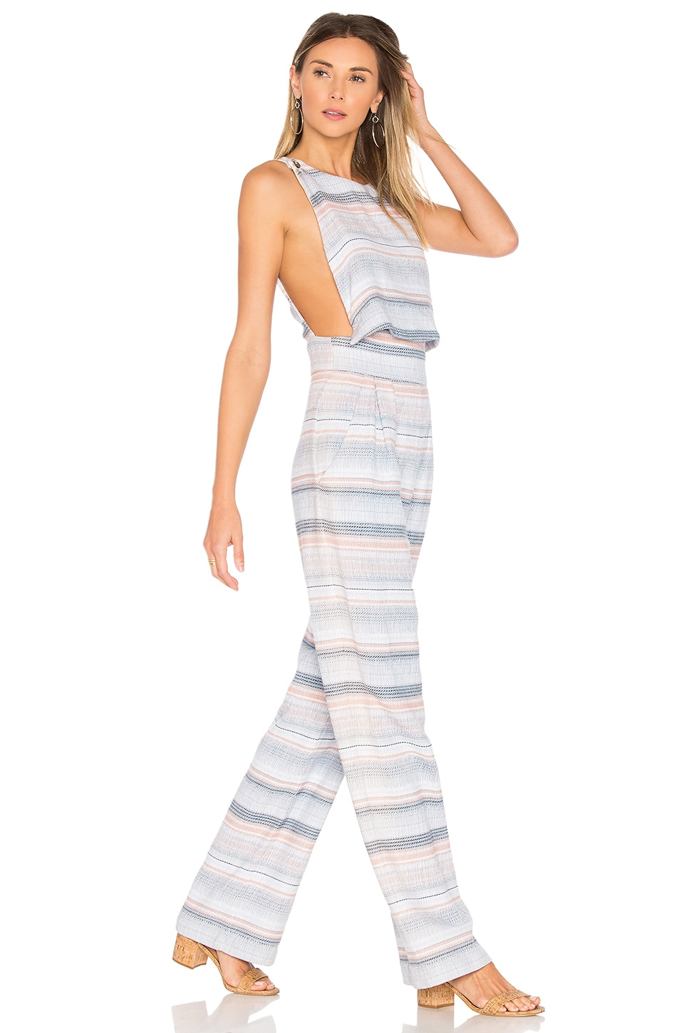 Mara Hoffman Overlap Jumpsuit in Blue Multi