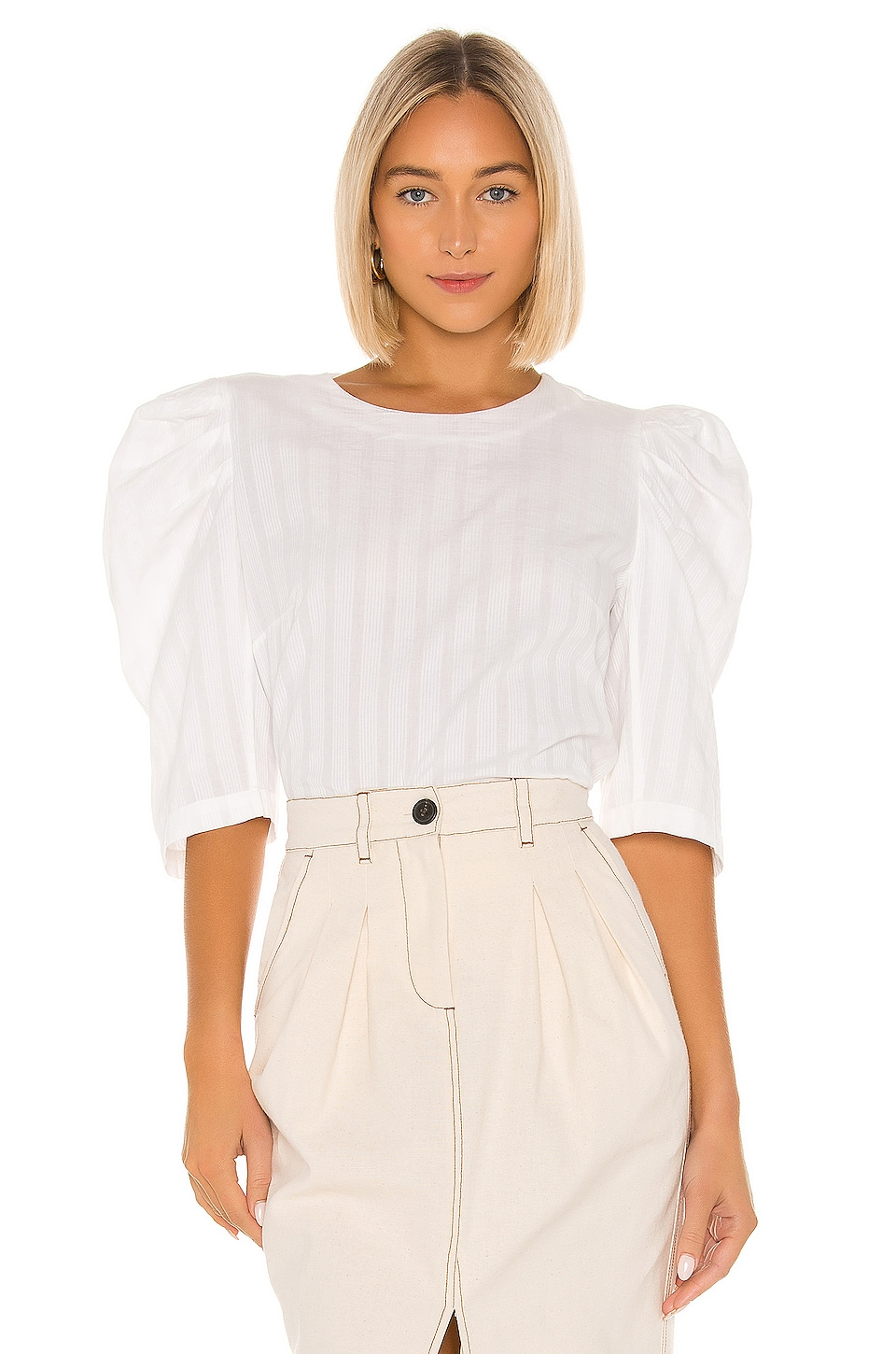 Mara Hoffman Katya Blouse in White