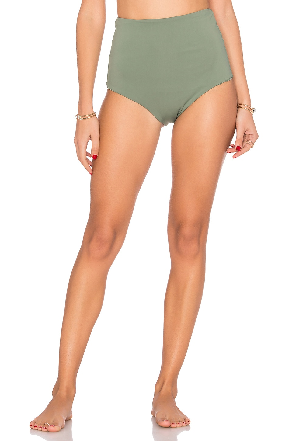 Mara Hoffman High Waist Bottom in Moss