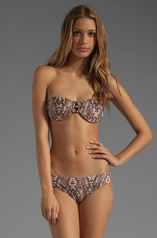 Mara Hoffman Underwire Bandeau Bikini Top in Snake