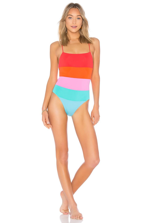 0792e477e5f26 Mara Hoffman Olympia Color-Block Swimsuit In Blue