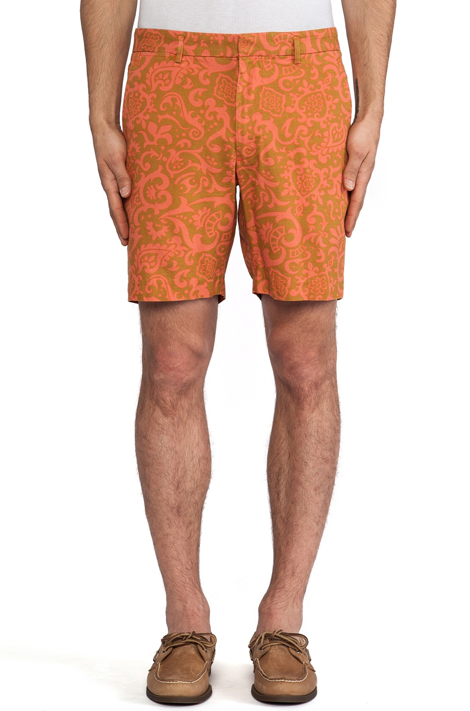 Marc by Marc Jacobs Malibu Print Cotton Short in Orange Multi