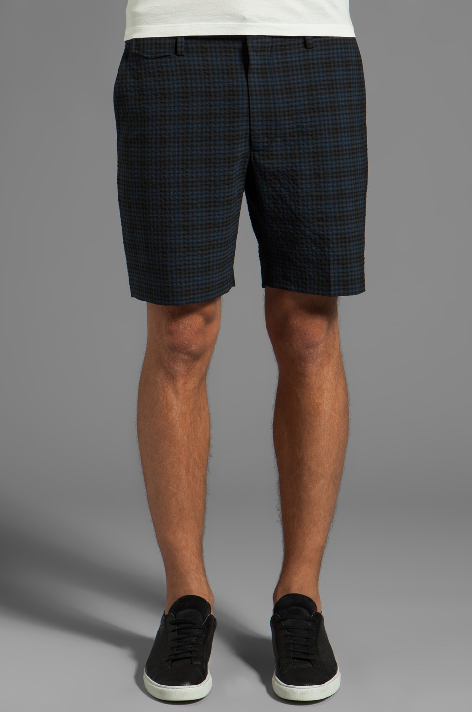 Marc by Marc Jacobs Easton Check Short in Washed Ink Multi