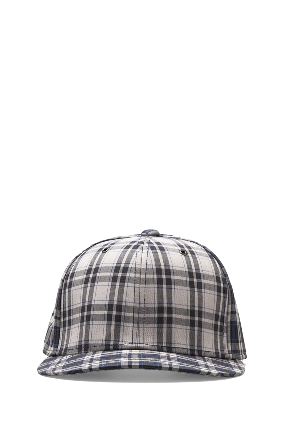 Marc by Marc Jacobs Harmony Plaid Hat in Blue Graphite Multi