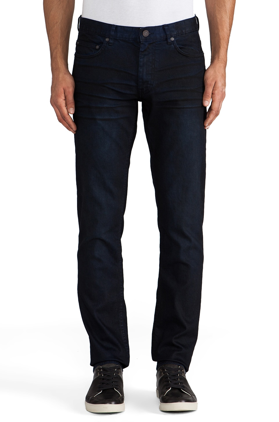 Marc by Marc Jacobs Jean enduit en Dark Indigo