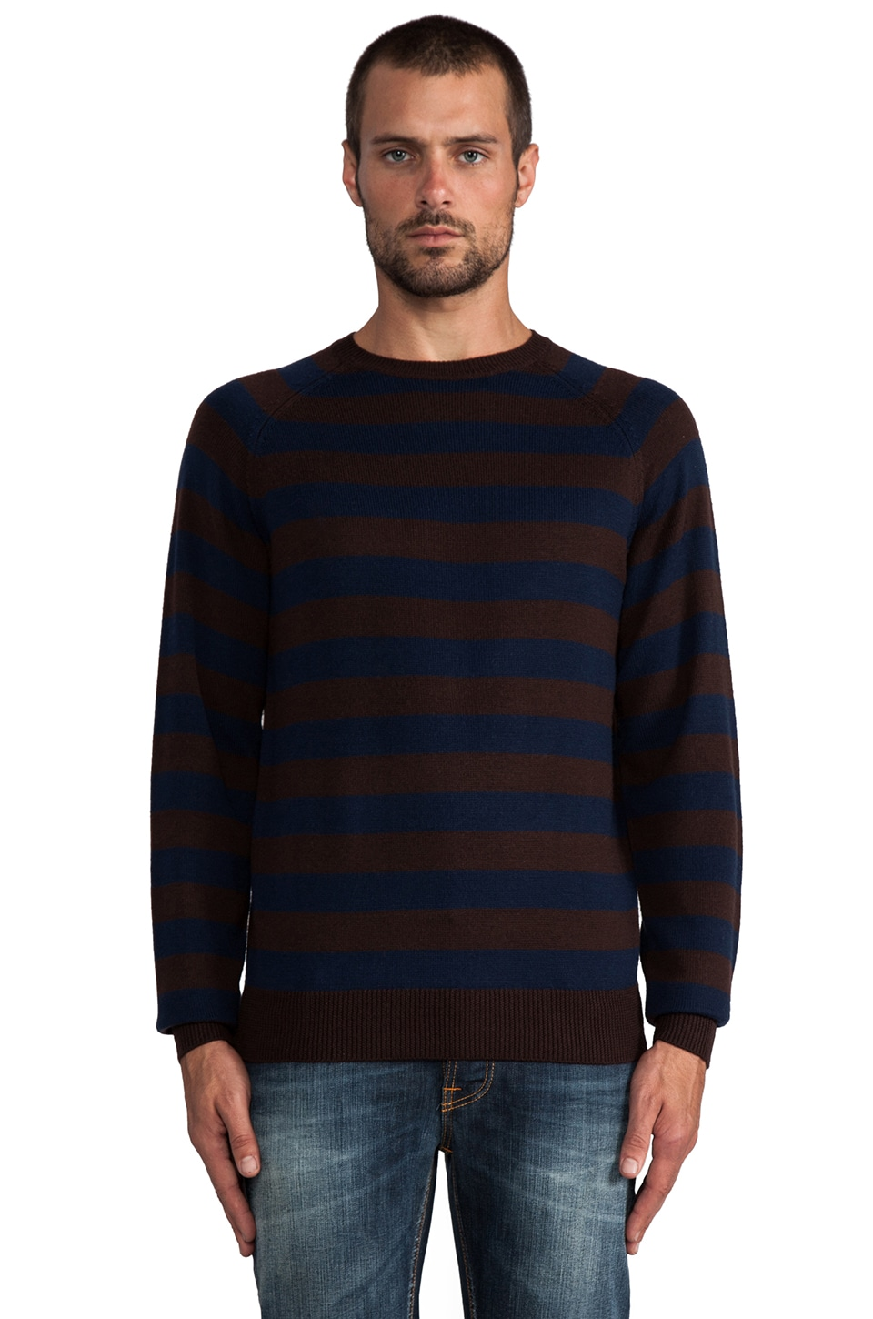 Marc by Marc Jacobs Yukon Stripe Sweater in Darkest Brown Multi