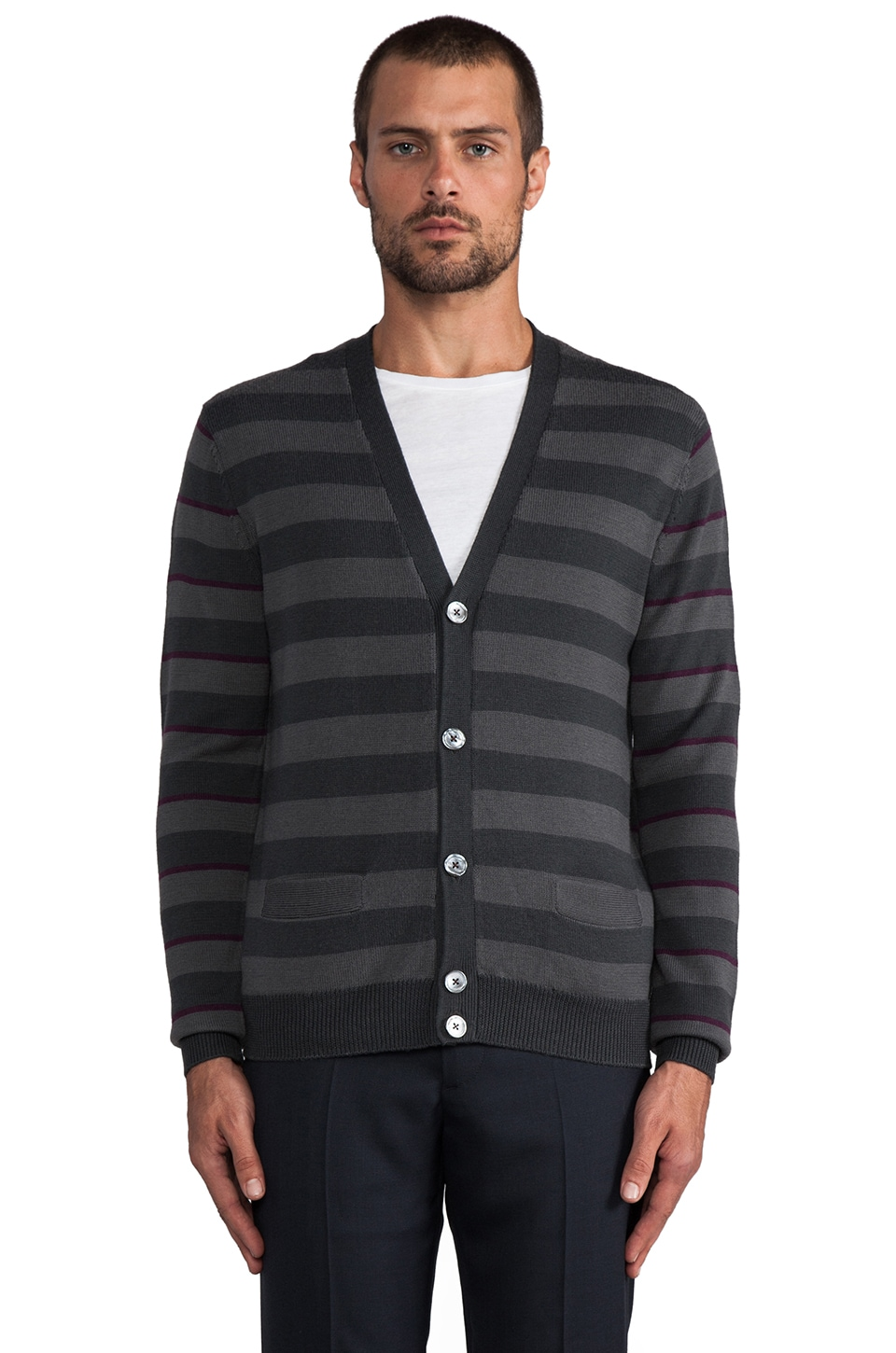 Marc by Marc Jacobs Yukon Stripe Cardigan in Jet Set Multi