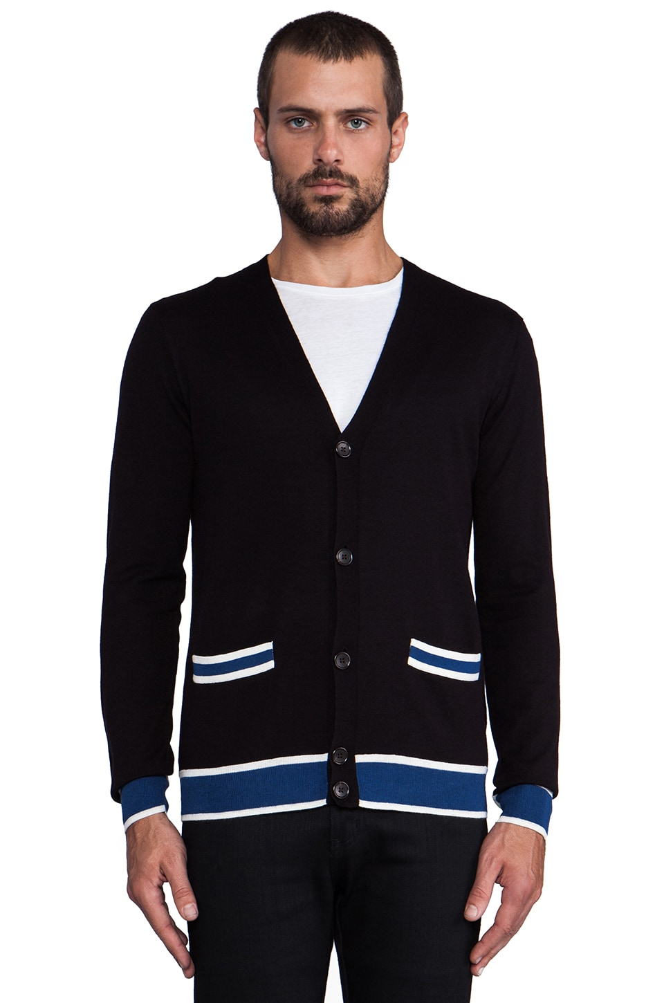 Marc by Marc Jacobs Cashmere Cardigan Sweater in Black Multi