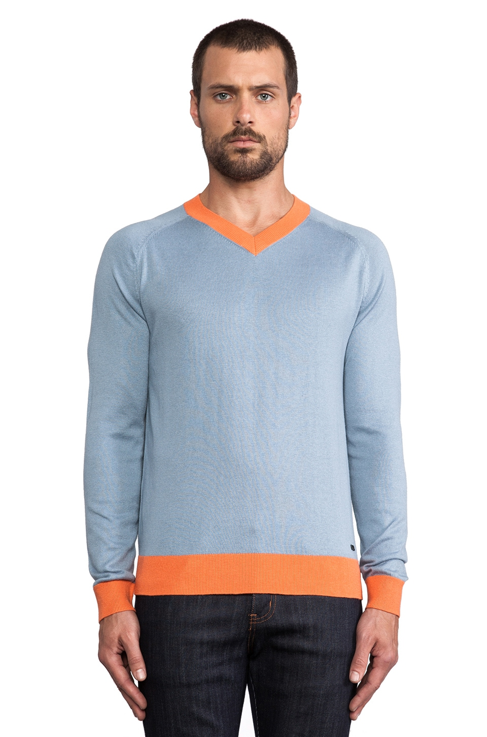 Marc by Marc Jacobs Silk Cotton Cashmere Sweater in Faded Khaki Multi