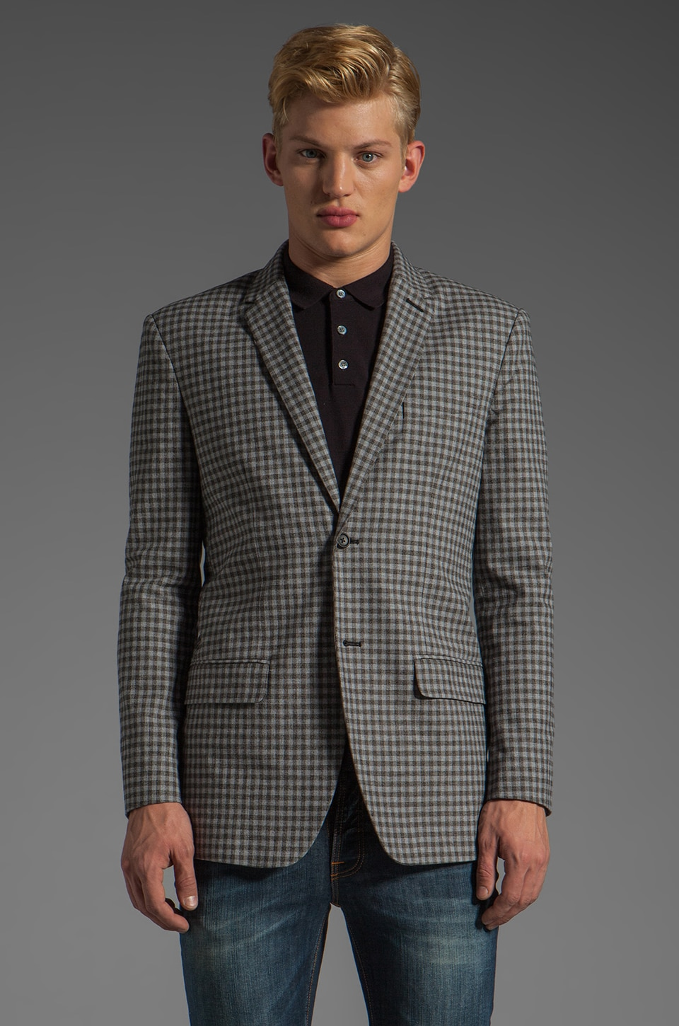 Marc by Marc Jacobs Bundy Plaid Blazer in Washed Ink Multi