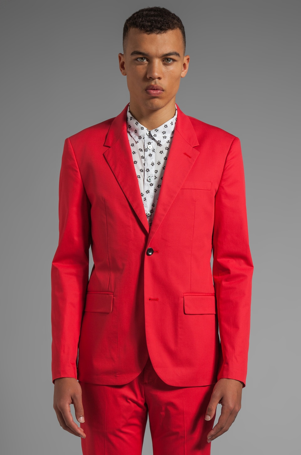 Marc by Marc Jacobs Harvey Twill Blazer in Scarlet