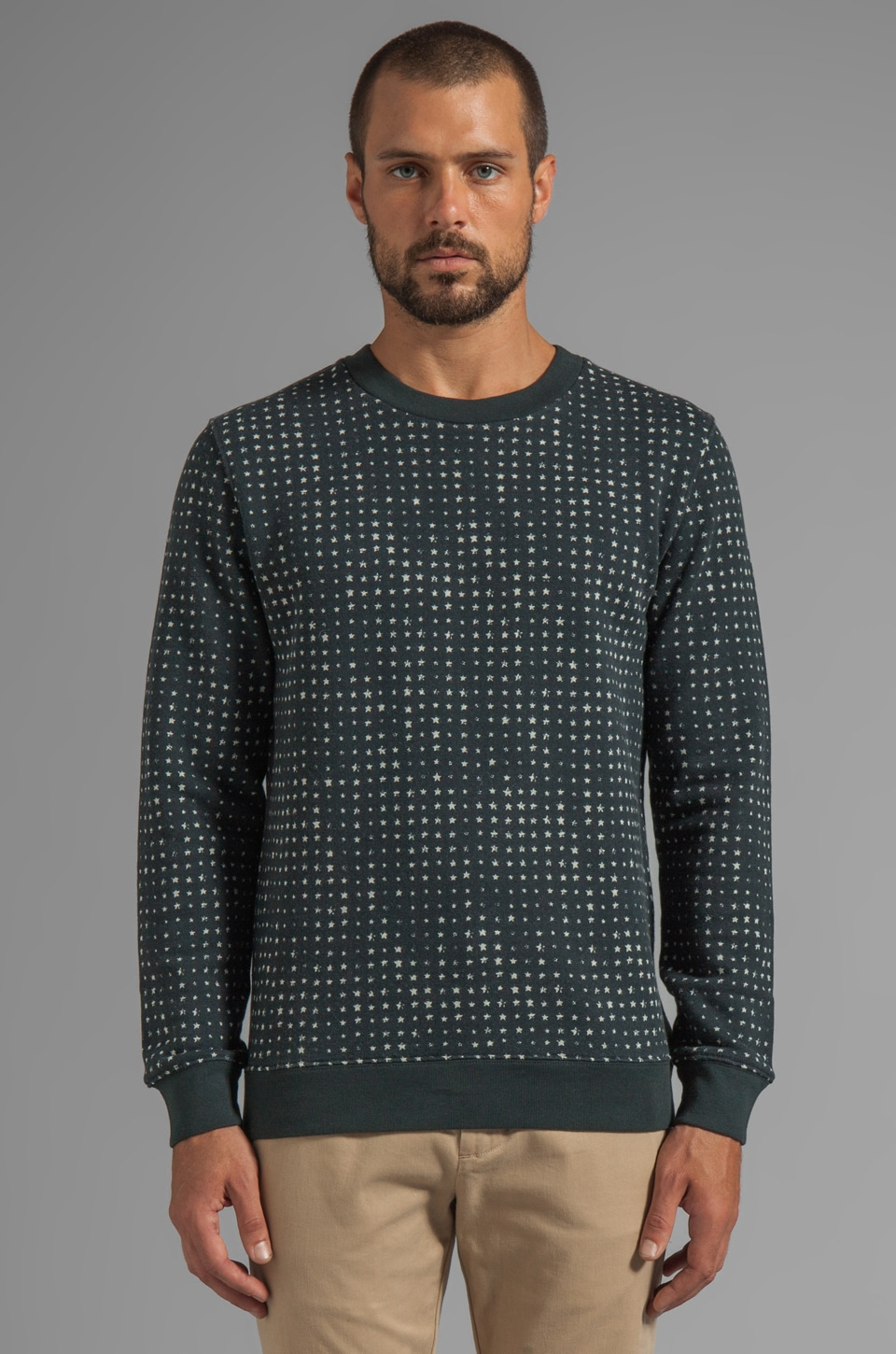Marc by Marc Jacobs Enzo Star Sweatshirt in Light Grey Melange Multi