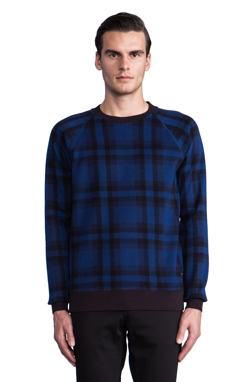 Marc by Marc Jacobs Sheffield Plaid Sweatshirt in Icelandic Blue Multi
